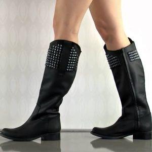 "Steve Madden Leather ""Reggime"" Grey Tall Boot"